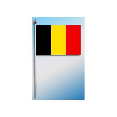 DRAPEAU PLASTIFIE 9.5X16CM Belgique