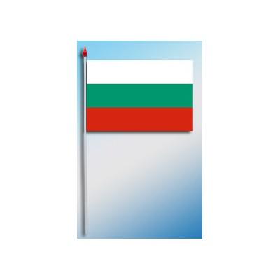 DRAPEAU PLASTIFIE 9.5X16CM Bulgarie