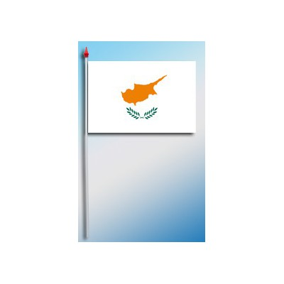 DRAPEAU PLASTIFIE 9.5X16CM Chypre