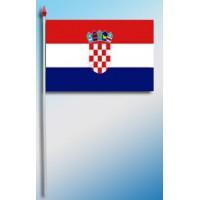 DRAPEAU PLASTIFIE 9.5X16CM Croatie
