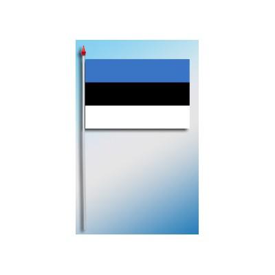 DRAPEAU PLASTIFIE 9.5X16CM Estonie