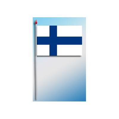 DRAPEAU PLASTIFIE 9.5X16CM Finlande