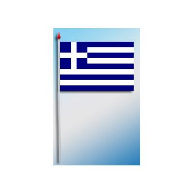 DRAPEAU PLASTIFIE 9.5X16CM Grèce