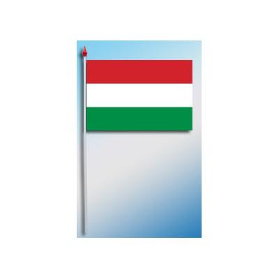 DRAPEAU PLASTIFIE 9.5X16CM Hongrie