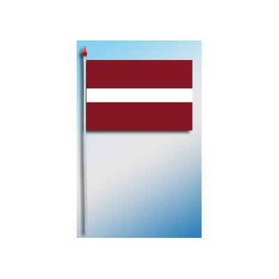 DRAPEAU PLASTIFIE 9.5X16CM Lettonie