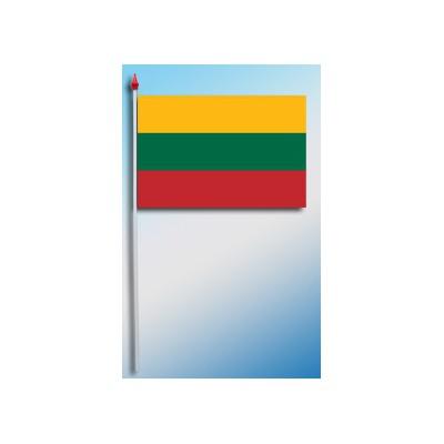 DRAPEAU PLASTIFIE 9.5X16CM Lituanie