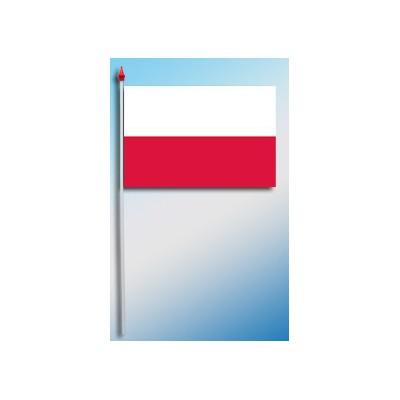 DRAPEAU PLASTIFIE 9.5X16CM Pologne