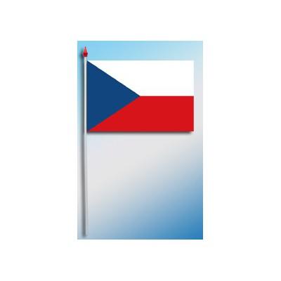 DRAPEAU PLASTIFIE 9.5X16CM République tchèque