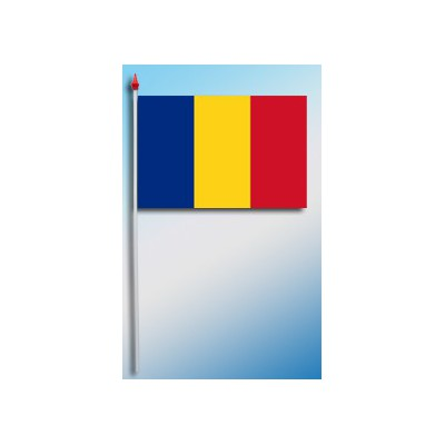 DRAPEAU PLASTIFIE 9.5X16CM Roumanie