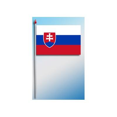 DRAPEAU PLASTIFIE 9.5X16CM Slovaquie