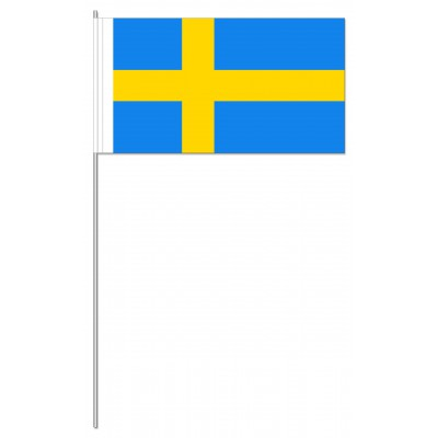 DRAPEAU PAPIER 12X24CM Suède