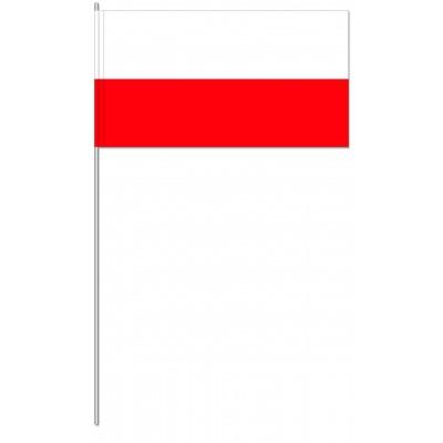 DRAPEAU PAPIER 12X24CM Pologne