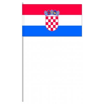 DRAPEAU PAPIER 12X24CM Croatie