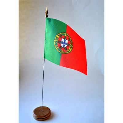 MINI DRAPEAU DE TABLE 10X14CM Portugal avec armoirie