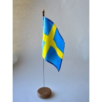 MINI DRAPEAU DE TABLE 10X14CM Suède