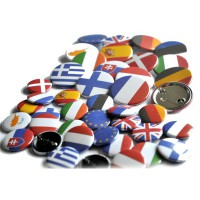 BADGE EPINGLE 25mm Islande lot de 10 ex