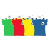 SUSPENSION MAILLOT FOOT en carton couleur - lot de 10 ex