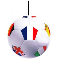 SUSPENSION BALLON DE FOOT - lot de 10 ex - carton couleur