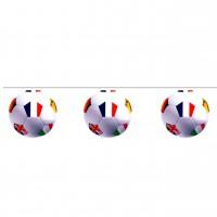 Guirlande de 12 Ballon de foot carton couleur - 5M