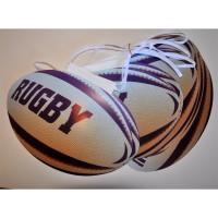 GUIRLANDE BALLON DE RUGBY 5M PAPIER logo rugby