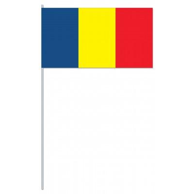 DRAPEAU PAPIER 12X24CM Roumanie
