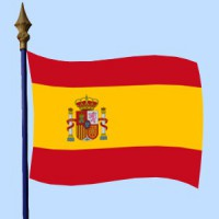 DRAPEAU Espagne avec armoirie