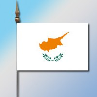 MINI DRAPEAU DE TABLE 10X14CM Chypre