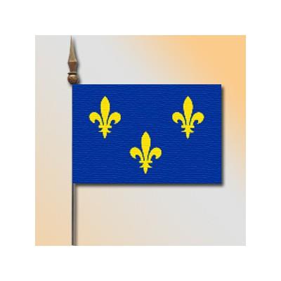 MINI DRAPEAU DE TABLE 10X14CM Ile de France
