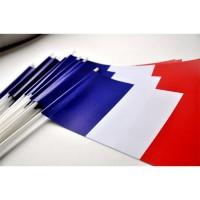 DRAPEAUX FRANCE - PAPIER 12X24CM - 50 ex