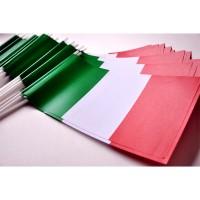 DRAPEAU PAPIER 12X24CM Italie LOT DE 50