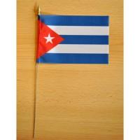MINI DRAPEAU DE TABLE 10X14CM CUBA
