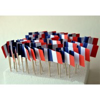 50 DRAPEAUX COCKTAIL 3X4CM - FRANCE TRICOLORE
