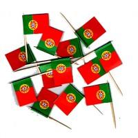 50 DRAPEAUX COCKTAIL 2X3CM - PORTUGAL