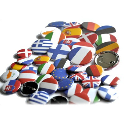 BADGE EPINGLE 38mm EUROPE