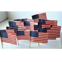50 DRAPEAUX COCKTAIL 3x4CM - USA Etats-unis