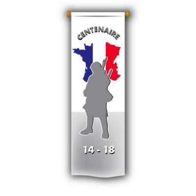 Oriflamme 50x200cm - Centenaire de la Guerre 1914-1918