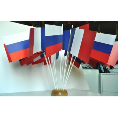 DRAPEAUX RUSSIE QUALITE PAPIER FORMAT 12X24CM