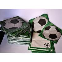 set de 16 serviettes football 30x30cm