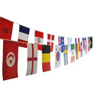 Guirlande des 32 pays de la coupe du monde de foot de russie