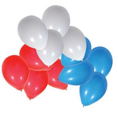 sachet de 25 ballons à gonfler bleu blanc rouge