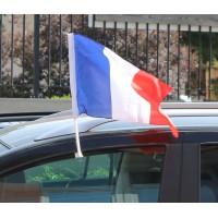 FANION VOITURE FRANCE 30x45cm avec support vitre