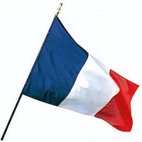 DRAPEAU France hampe bois