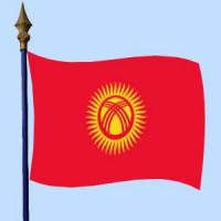 DRAPEAU Kirghizistan