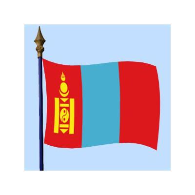 DRAPEAU Mongolie