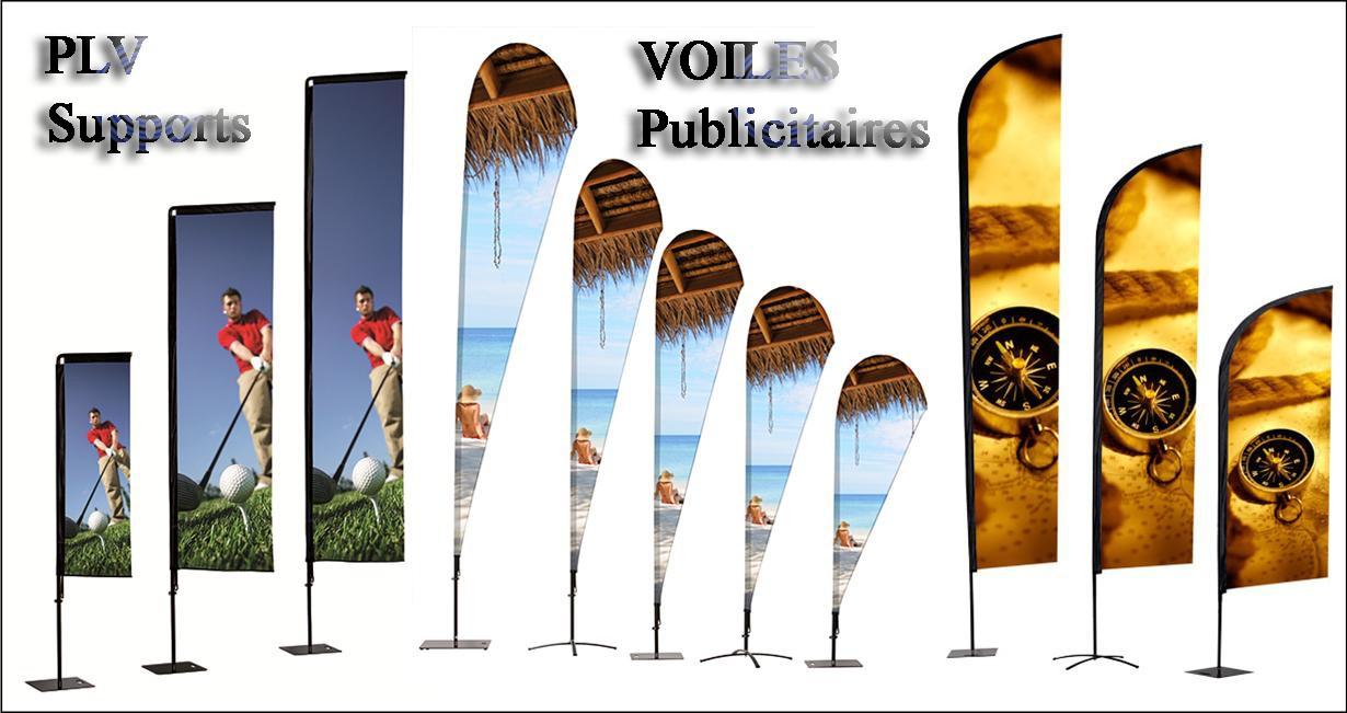 VOILES PUBLICITAIRES AVEC LOGO